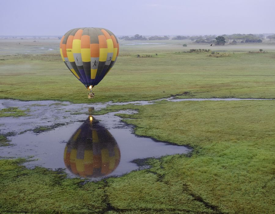 Hot Air Balloon over the Busanga Plains