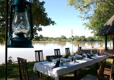 Dining on the Banks of the Luangwa