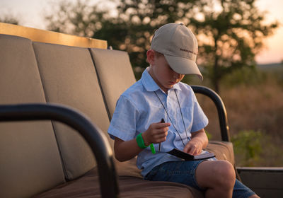 Kids on Game Drive